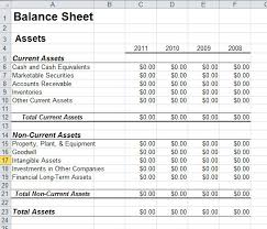 Basic Balance Sheet Template Excel Balance Sheet Template In Excel
