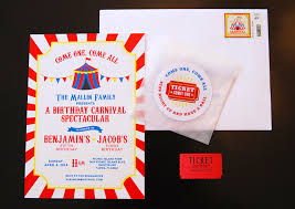 Carnival Birthday Invitations Carnival Party Benjamin Is 5 And Jacob Is 1 Chickabug