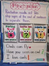 Punctuation Anchor Chart 1st Grade First Grade Glitter And Giggles Im Back Plus Owl