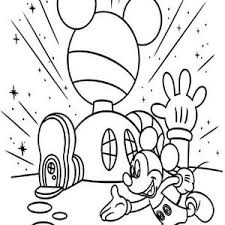 Mickey Mouse House Coloring Pages