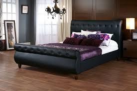 Black leather bed frame Mens Bed Black Leather Tufted Bed Frame Soosxerorg Black Leather Tufted Bed Frame Home Sweet Home Pinterest