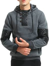 outfits men s fashion leather hooded jacket tide long sleeved hoo