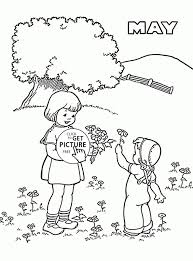 Small Picture Spring May Coloring Page For Kids Seasons Pages In Coloring Pages