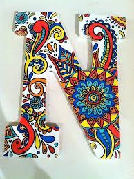 Wooden Letters Design Wooden Letter Design Hand Painted Wooden Letter N Greek Wooden