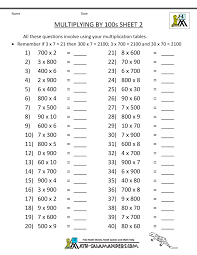 multiplication fact sheet multiplication fact sheets