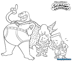 Captain Underpants Coloring Pages Printable Master Coloring Pages