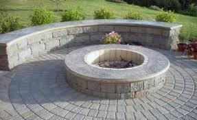 block fire pit ideas patio pavers