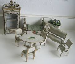 miniatures dollhouse furniture. antique gottschalk french miniature dollhouse furniture dresden trim blue silk miniatures i