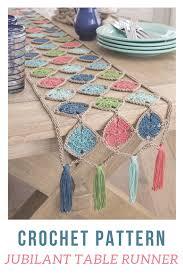 Crochet Table Runner Patterns Easy Custom Decoration