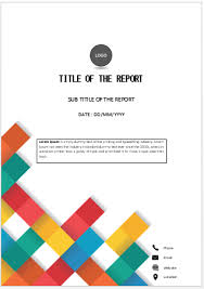 Cover Page For Assignment Free Download Colorful Squares Cover Cover Page Template Cover Pages