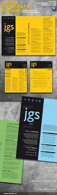 Clean Typography Resume Cover Letter Set By Whype Graphicriver