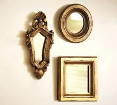 mini gilded gold mirrors set of 3 pottery barn wall mirror sets o mirrors interesting set of 3 wall