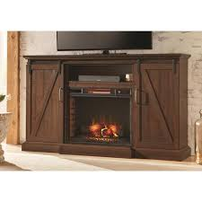 home decorators collection chestnut hill 68 in a console electric fireplace in rustic walnut