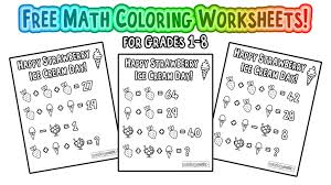 free math coloring worksheets pages for