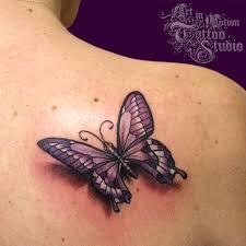 3d Butterfly Art In Motion Tattoo Studio