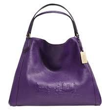 Photograph of Coach Edie Large Embossed Shoulder Bag, Purple