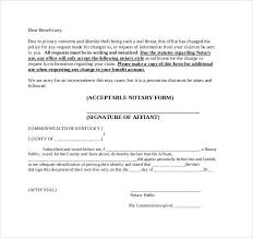 notarized letter attestation form notarized letter 30 professional notarized