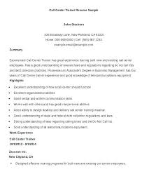 Resume For Call Center Sample Resume For Call Center Job Call Center Delectable Example Of A Call Center Resume