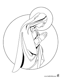 Virgin Mary Coloring Pages Hellokidscom
