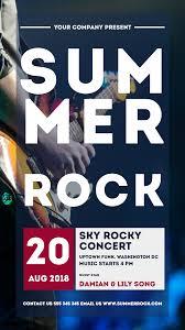 Concert Invite Template Summer Rock Concerts Invitation Animation Template 1524427