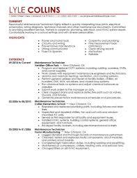 Resumes Facilitiesintenance Mechanic Resume Sample Objective For