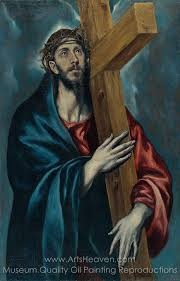 el greco christ carrying the cross oil painting reion