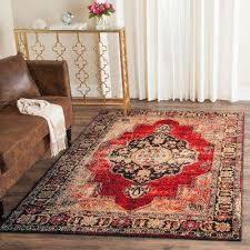 area rug vintage hamadan red multi 8 ft x 10 ft area rug