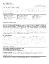 Project Management Objective Resume