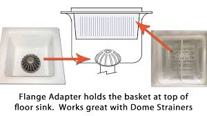 85 Floor Sink Basket With Flange Assembly Drain Edge
