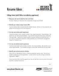 Resume Career Objective Resume Examples Elegant Work Of Resumes In