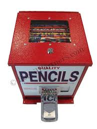 School Pencil Vending Machine Amazing Red Pencil Dispenser With View School Fundraising Pinterest