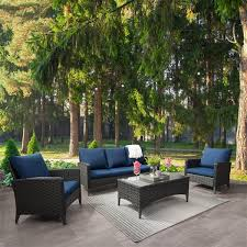 corliving rattan sofa and chair patio