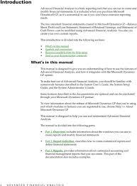 Financial Analysis Of Microsoft Microsoft Dynamics Gp Advanced Financial Analysis Pdf