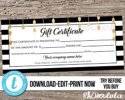 Custom Gift Certificate Templates Free Editable Custom Printable Photography Gift Certificate