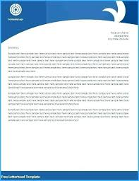 Free Word Stationery Templates Free Letterhead Template Word Company Stationery Samples