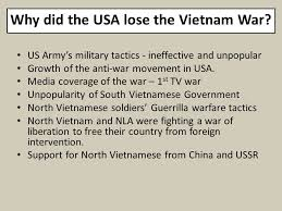 case study  vietnam how was a small country like vietnam able to    why did the usa lose the vietnam war  us army    s military tactics   ineffective and