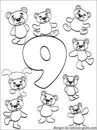 Disegno Di Numero 9 Da Colorare Disegni Da Colorare Gratis