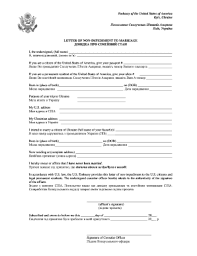 Sample Letter Of No Impediment To Marriage Fill Online Printable