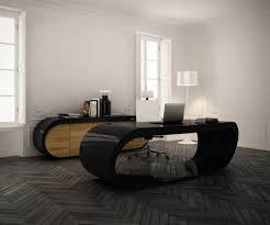 Modern office decor ideas Luxury An Ultra Modern Office Design Completed With Dramatic Flooring Houzz Masculine Office Decor Gentlemans Gazette