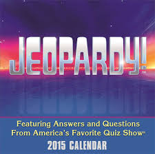 Calendar Format 2015 Jeopardy 2015 Day To Day Calendar Sony 0050837328877