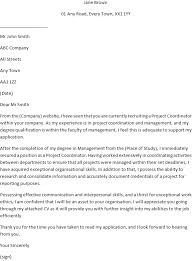 Project Coordinator Cover Letter Example For Job