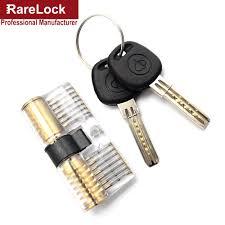 Rarelock Free Shipping Training Door Lock Skill 2Keys Pick Set for ...