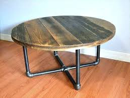 round iron coffee table pallet with metal legs wrought glass top