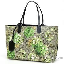 kaitorikomachi gucci gg bloom medium reversible gg leather tote bag green bloom black shoulder bag 368568 gg blooms reversible leather tote rakuten