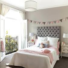 Pink And Grey Bedroom Pink And Gray Girls Bedroom With Banner Over Bed Pink  Gray Bedroom . Pink And Grey Bedroom ...