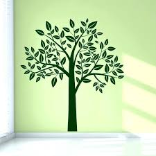 Family Tree Daycare Wall Stencil Art Green Coloured Rooms