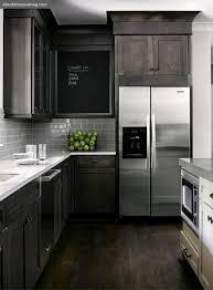 dark distressed kitchen cabinets