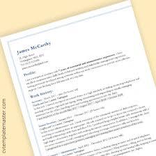 Cv Template 222 Free Professional Microsoft Word Cv