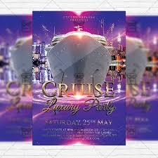 Luxury Cruise Party Premium Flyer Template Instagram Size Flyer