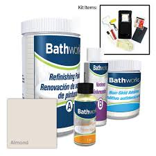 Bathworks 22 Oz Diy Bathtub Refinishing Kit With Slip Guard In